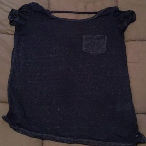 American Eagle low cut out back top!